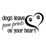 Dogs Leave Animal Stickers Wall Decal Car Decals
