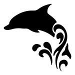 Dolphin in the Water Sticker Animal Stickers Car Decals