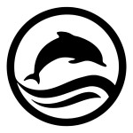 Dolphin in a Circle Animal Stickers Car Decal Wall Decals
