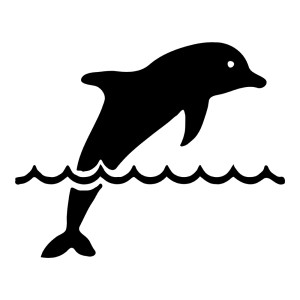 Dolphin in Waves Animal Stickers Ocean Wall Decals