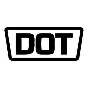 DOT Black Replacement Stickers Motorcycle Helmet Decals