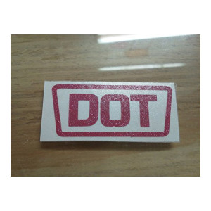 DOT Pink Glitter Replacement Sticker Motorcycle Helmet