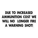 Due to Increased Ammo Gun Stickers