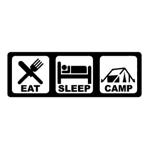 Eat Sleep Camp Outdoors Stickers