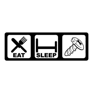 Eat Sleep Screw Funny Stickers