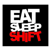 Eat Sleep Shift Manual Vehicle Sticker Car Decals