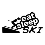 Eat Sleep Ski Die Cut Stickers