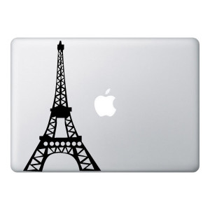 Eiffel Tower Mac Laptop Stickers
