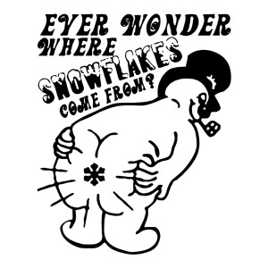 Ever Wonder Where Snowflakes Come From Funny Stickers