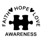 Faith Hope Love Awareness Autism Stickers