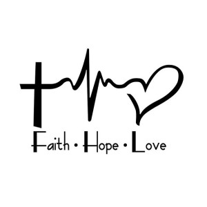 Faith Love and Hope Christian Stickers