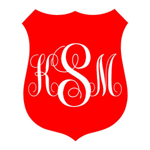 Fire Department Badge Monogram Auto Stickers