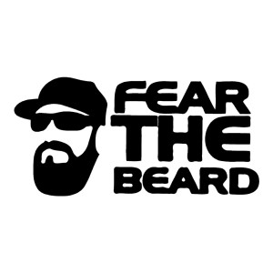 Fear the Beard Funny Stickers