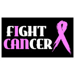 Pink Fight Cancer Ribbon Waterproof Stickers