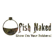 Fish Naked Show Me Your Bobbers Die Cut Stickers