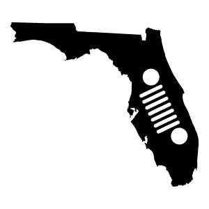Florida Jeep Stickers Car Decals Wall Decals