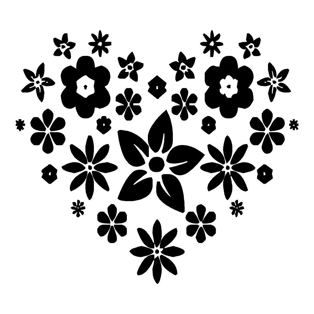 Flower Heart Sticker Waterproof Stickers