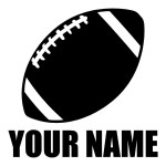 Football with Custom Name Die Cut Stickers