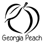 Georgia Peach Patriotic Waterproof Stickers