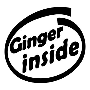 Ginger Inside Waterproof Stickers