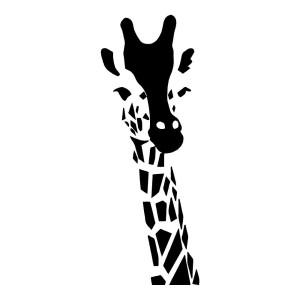 Giraffe Wall Art Animal Stickers Home Decor Wall Decals