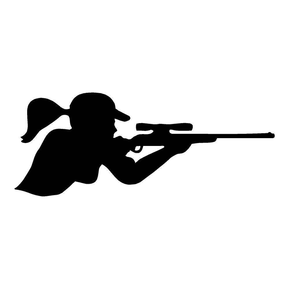 Girl hunter hunting sticker