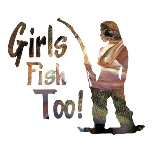 Girls Fish Too! Fish Eye Waterproof Stickers