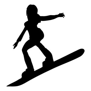 Girl Snow Boarder Waterproof Stickers