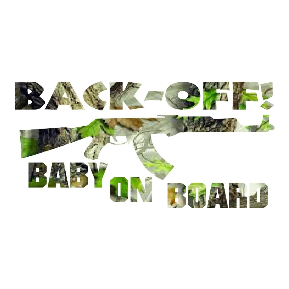 Green Leaf Camo Baby on Board Car Decals Truck Stickers