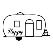 Happy Camper Outdoor Stickers
