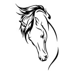 Horse Facing Down Horse Stickers Car Decals Wall Decal