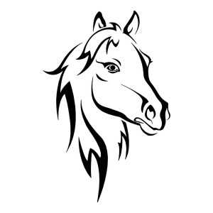 Horse Head Horse Stickers Animals Car Decal Wall Decal