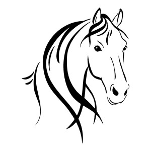 Horse Head Outline Horses Stickers Car Decals Wall Decal
