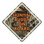 Hunting Buddy Camo Waterproof Stickers