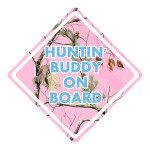 Hunting Buddy Pink Camo Waterproof Stickers