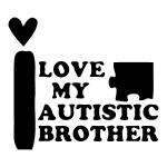 I Love My Autistic Brother Waterproof Stickers