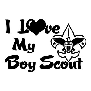 I Love My Boy Scout Car Decals