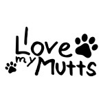 I Love My Mutts Animal Stickers Car Decals Dogs Pets