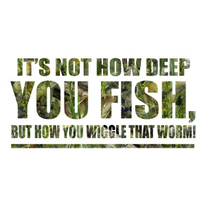 It's not how deep you fish funny stickers