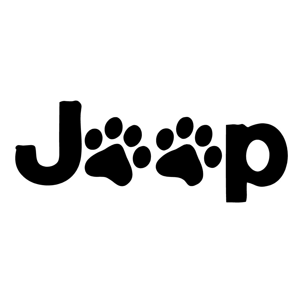 Jeep Pawprint Dogs Stickers Jeep Decals Funny Stickers