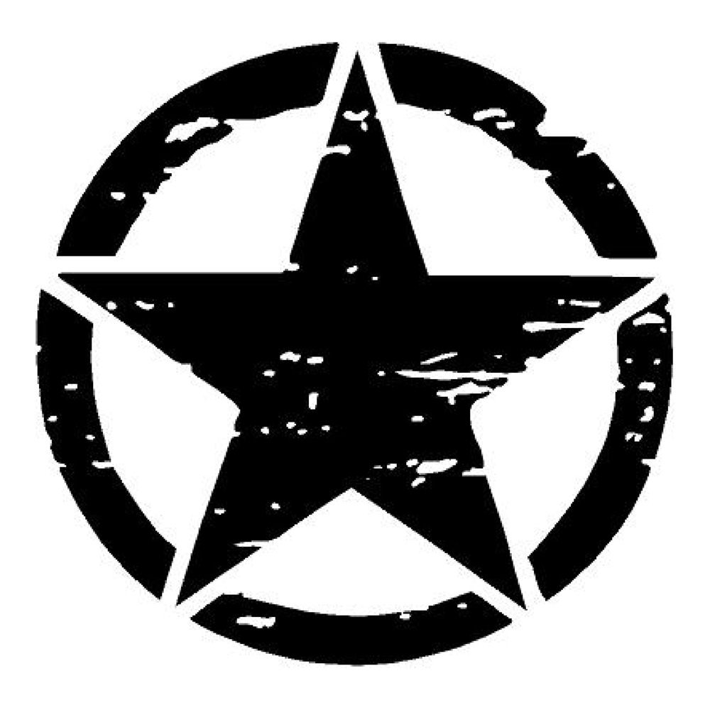 Jeep Distressed Star Car Decals Jeep Stickers