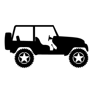 Jeep Star Wheels Car Decals Jeep Stickers Wall Decal