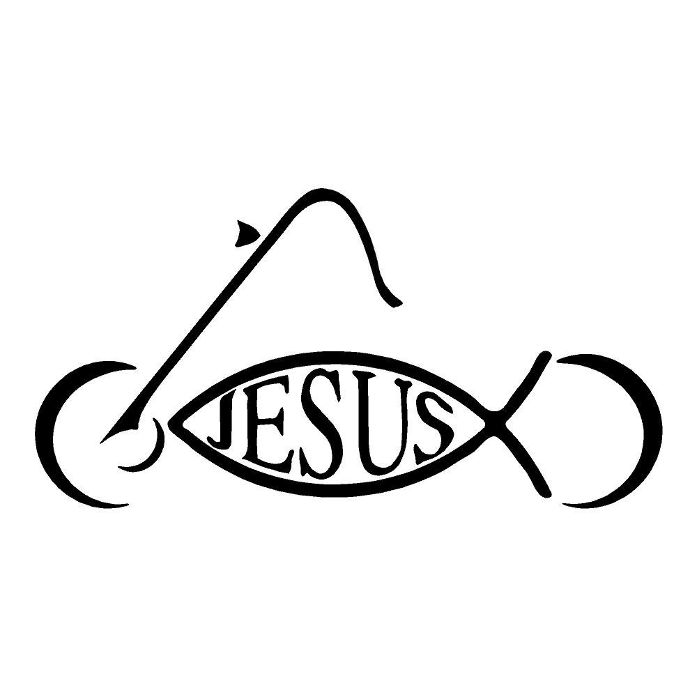 Jesus Motorcycle Die Cut Stickers