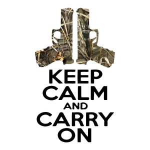 Keep Calm & Carry On Camo Stickers