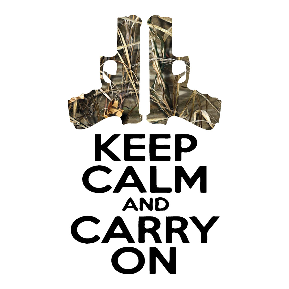 camo keep calm and carry on guns pistols car stickers. Black Bedroom Furniture Sets. Home Design Ideas