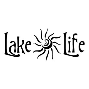 Lake Life with a Sun Outdoor Stickers
