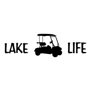 Lakelife Lake Life Die Cut Sticker