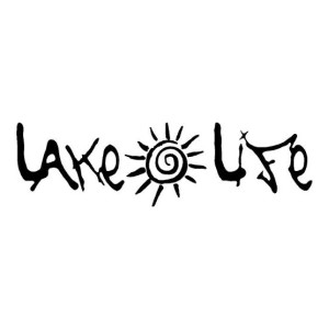 Lakelife Lake Life with a sun Die Cut Stickers