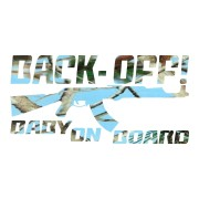 Light Blue Camo Back Off Baby on Board Sticker Car Decals