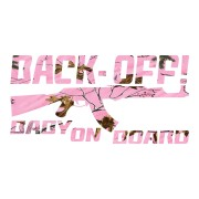 Light Pink Back Off Baby on Board Truck Stickers